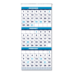 HOD3640 - House of Doolittle™ 100% Recycled Three-Month Format Wall Calendar