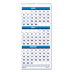 HOD3645 - House of Doolittle™ 100% Recycled Three-Month Format Wall Calendar