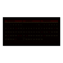 HOD3647 - Recycled Three-Month Horizontal Wall Calendar, 17 x 8, 14-Month, 2020-2022