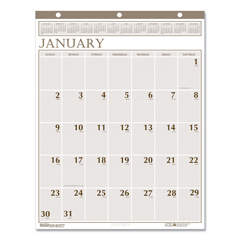 HOD380 - House of Doolittle™ Large Print 100% Recycled Monthly Wall Calendar
