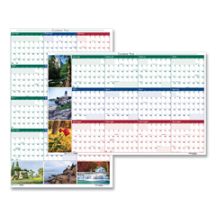 HOD3930 - Recycled Earthscapes Nature Scene Reversible Yearly Wall Calendar, 18 x 24, 2022
