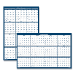 HOD3961 - House of Doolittle™ 100% Recycled Poster Style Reversible/Erasable Yearly Wall Calendar