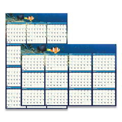 HOD3969 - House of Doolittle™ Earthscapes™ 100% Recycled Sea-Life Scenes Reversible/Erasable Yearly Wall Calendar