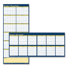 HOD3974 - House of Doolittle™ 100% Recycled Reversible Yearly Wall Planner