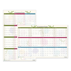 HOD3984 - House of Doolittle™ Floral Reversible/Erasable 100% Recycled Yearly Wall Calendar