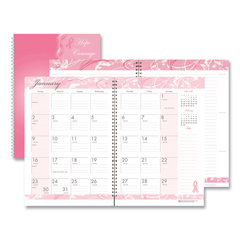 HOD5226 - House of Doolittle™ Breast Cancer Awareness 100% Recycled Ruled Monthly Planner/Journal