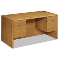 HON10771CC - HON® 10700 Series Double Pedestal Desk with Three-Quarter Height Pedestals