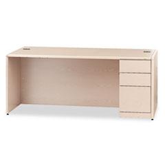 HON10787RDD - HON® 10700 Series Single Pedestal Desk with Full-Height Pedestal on Right