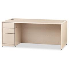 HON10788LDD - HON® 10700 Series Single Pedestal Desk with Full-Height Pedestal on Left