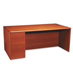 HON10788LJJ - HON® 10700 Series Single Pedestal Desk with Full-Height Pedestal on Left