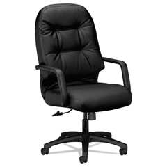 HON2091SR11T - 2090 Pillow-Soft Series Executive Leather High-Back Swivel/Tilt Chair