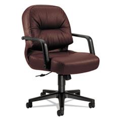 HON2092SR69T - HON® 2090 Pillow-Soft® Series Managerial Mid-Back Swivel/Tilt Leather Chair