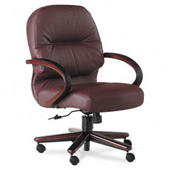 HON2192NSR69 - HON® 2190 Pillow-Soft® Wood Series Managerial Mid-Back Swivel/Tilt Chair