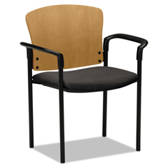 HON4091CAB12T - HON® Pagoda® 4091 Wood Back Stacking Guest Chair with Arms