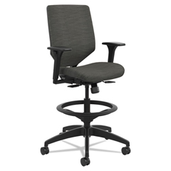 HONSVSU1ACLC10T - HON® Solve™ Series Upholstered Back Task Stool