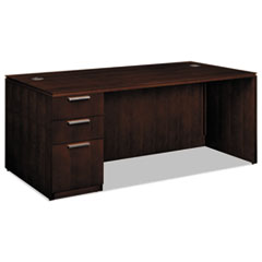 HONVW076LC1Z9FF - HON® Arrive™ Wood Veneer Series Single Pedestal Desk