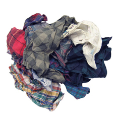 HSC180-50 - HospecoMixed Colored Flannel Rags