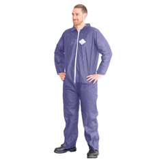 HSCDA-PP316 - HospecoPolypropylene Coverall Blue Open Wrist And Ankle