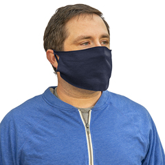 HSCFACECOVERNV-BX - Hospeco - 50/50 Cotton/Poly Navy Face Covering