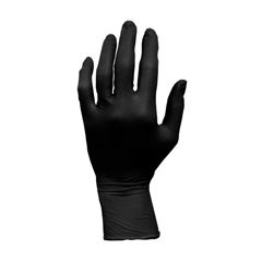 HSCGL-L107FL - HospecoProworks Latex, 5 mil, Black, Textured Palm and Fingers, Powder Free, Examination Grade