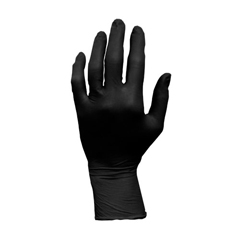HSCGL-L107FS - HospecoProworks Latex, 5 mil, Black, Textured Palm and Fingers, Powder Free, Examination Grade