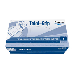 HSCGL-L110FL - HospecoTotal-Grip Heavy Weight Latex Examination Grade Glove - Large