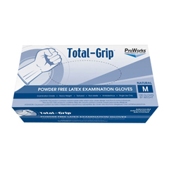 HSCGL-L110FM - HospecoTotal-Grip Heavy Weight Latex Examination Grade Glove - Medium