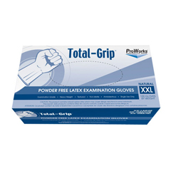 HSCGL-L110FXX - HospecoTotal-Grip Heavy Weight Latex Examination Grade Glove - XX Large