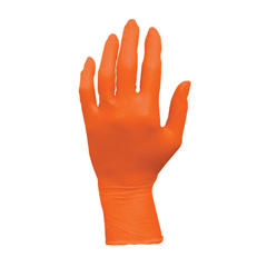 HSCGL-N105ORFS - HospecoProWorks™ Orange Nitrile Powder Free Gloves