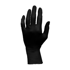 HSCGL-L107FXS - HospecoLatex Exam Powder Free Gloves Black
