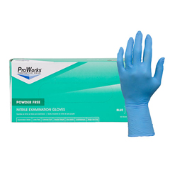 HSCGL-N108EPF-SM - Hospeco12 Nitrile exam powder free gloves 8 mil blue
