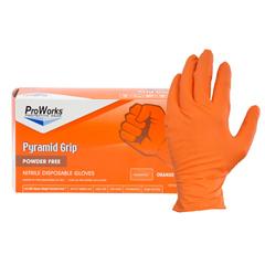 HSCGL-NT107ORFX - HospecoProworks Nitrile Textured Examination Gloves