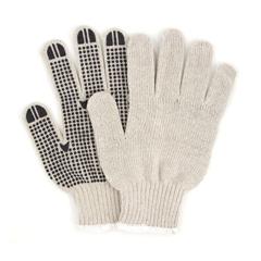 HSCGWSKDB1 - HospecoProWorks® PVC Dotted String Knit Gloves