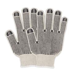 HSCGWSKDB2 - HospecoProWorks® PVC Dotted String Knit Gloves