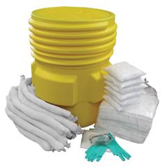 HSCOS-SK65G - HospecoAllSorb™ Oil Only Spill Kit Over Packs, 65 Gallon Pail