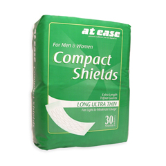 HSCAI90030-24 - HospecoAt Ease® Compact Shields, Long Ultra Thin