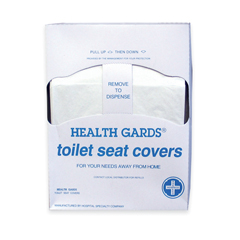 HSCHG-QTR-5M - HospecoHealth Gards® Quarter-Fold Toilet Seat Covers