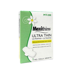 HSCMT-200 - HospecoMaxithins® Ultra Thin Sanitary Napkins with Wings