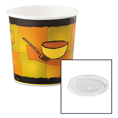 HUH71848 - Huhtamaki Soup Containers with Vented Lids
