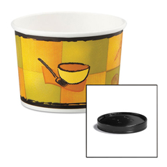 HUH71850 - Huhtamaki Soup Containers with Vented Lids