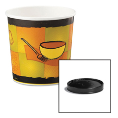 HUH71851 - Huhtamaki Soup Containers with Vented Lids