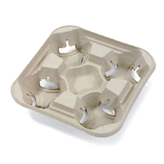 HUHFLIGHT - Chinet® StrongHolder® Molded Fiber Carriers and Trays