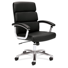 BSXVL103SB11 - basyx™ VL103 Executive Mid-Back Leather Chair