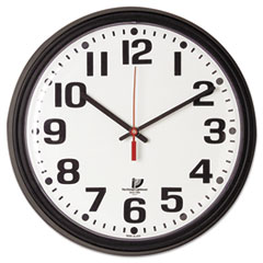 ILC67700000 - Chicago Lighthouse Black Quartz CONTRACT Clock