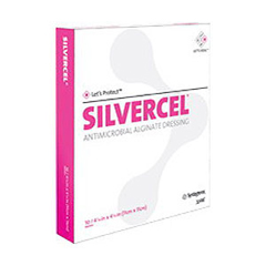 IND53900408-PK - Systagenix - Silvercel Non-Adherent Antimicrobial Alginate Dressing 4 x 8, 5/PK