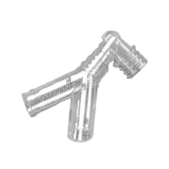 IND55001830-EA - Vyaire MedicalAirLife Adult Y Connector with Elbow 22 mm O.D., 1/EA