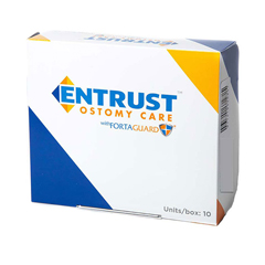IND651100-BX - Fortis Medical - Entrust 1 Piece CTF, 3/4 - 2-1/2, Transparent, Standard Wear, 12, Drainable with Fortaguard, 10/BX