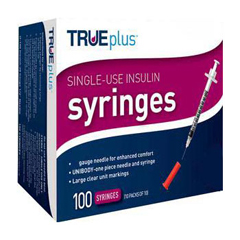 IND67S4H01A31100-BX - Trividia - Trueplus Single-Use Insulin Syringe, 31G x 5/16, .3mL, 100/BX