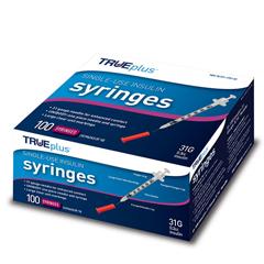 IND67S4H01B31100-BX - Trividia - Trueplus Single-Use Insulin Syringe, 31G x 5/16, .5 mL (100 Count), 100/BX