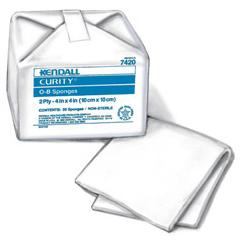 IND682818-PK - Cardinal Health - Curity Cotton O-B Sponge 4 x 4, 40/PK